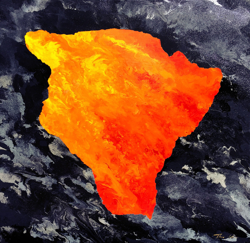Big Island Lava Tube 1 24x24 Painting