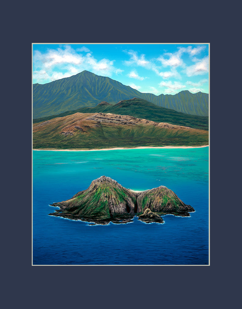 Birds Eye Lanikai Hawaii art prints gift print