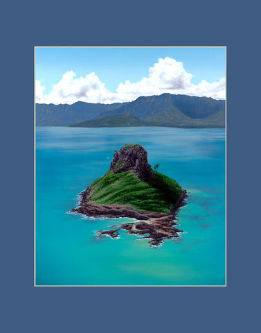 Chinamans Hat Hawaii art prints gift print