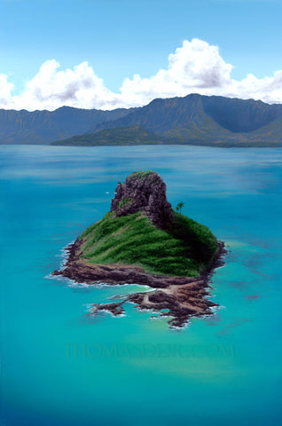 Chinaman's Hat Painting by Hawaii Artist Thomas Deir