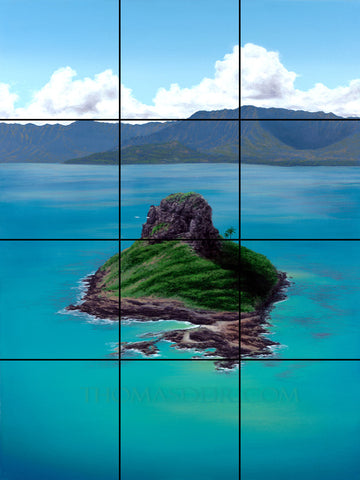 Chinaman's Hat Tile Mural