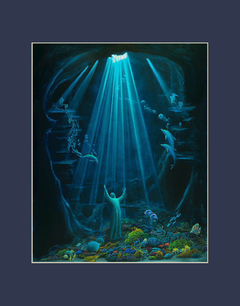 Christ of the Deep matted print