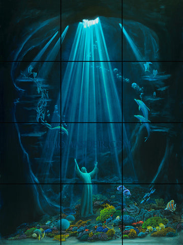 Christ of the Deep Tile Mural