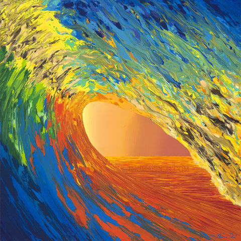 Liquid Jewel Wave giclee