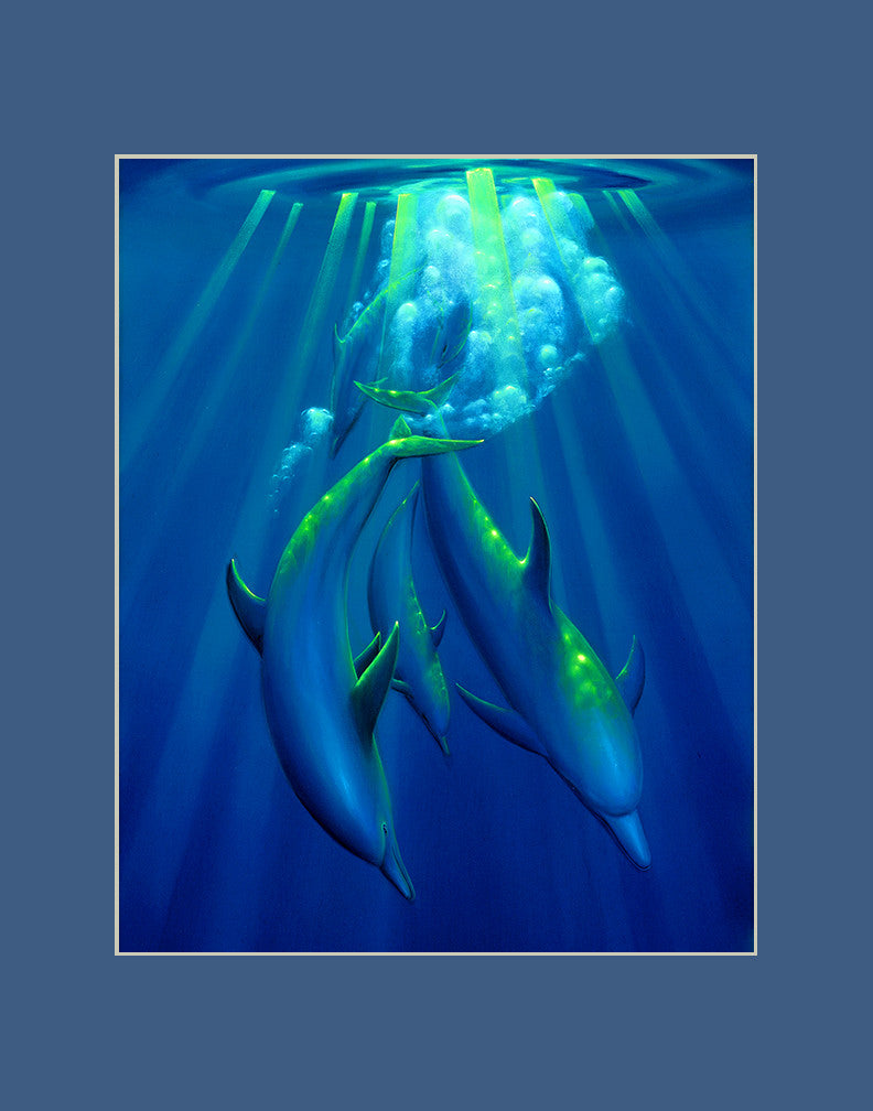 Dance of the Dolphins Hawaii art prints gift print