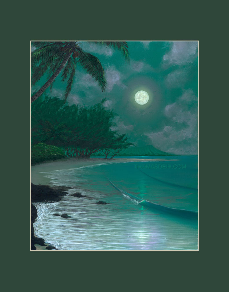 Ewa Moon Hawaii art prints gift print