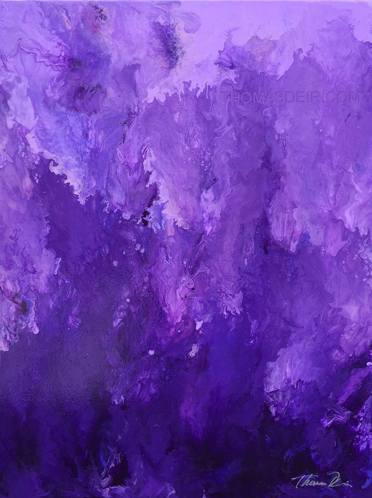 Falling into Purple 12x16 Painting