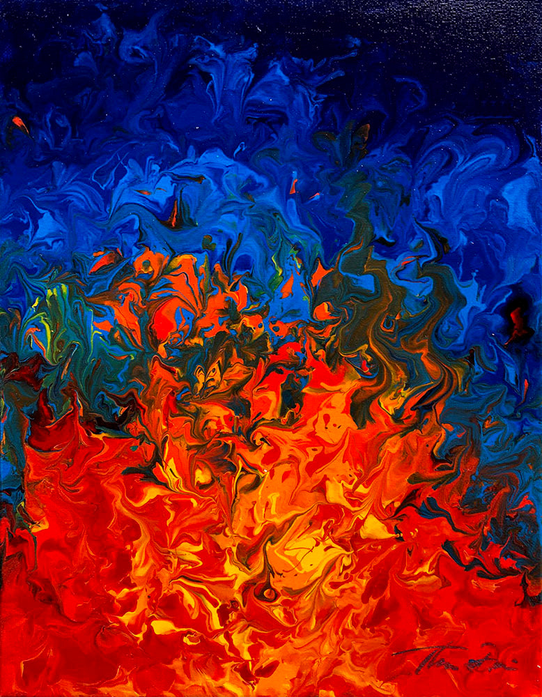 Fire 1 11x14 Painting