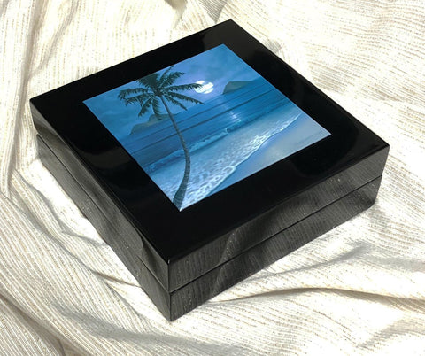 Jewelry Box with Full Moon Mokuluas Inlay | Holiday Sale!