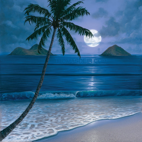Full Moon Mokuluas Giclee Print by Hawaii Artist