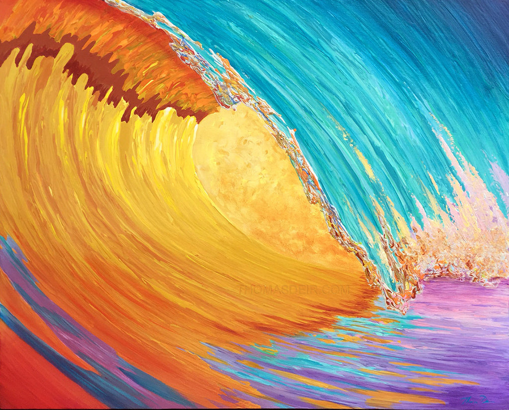 Golden Wave Painting