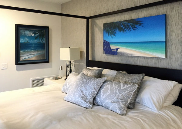 Hawaii beach painting bedroom wall art