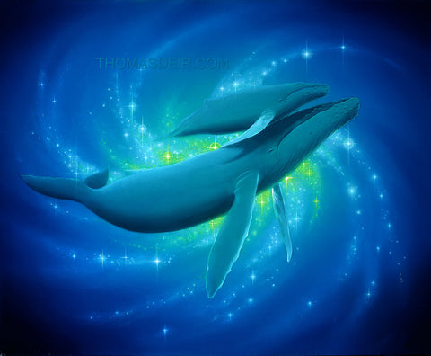 Heavenly Bonding Whales