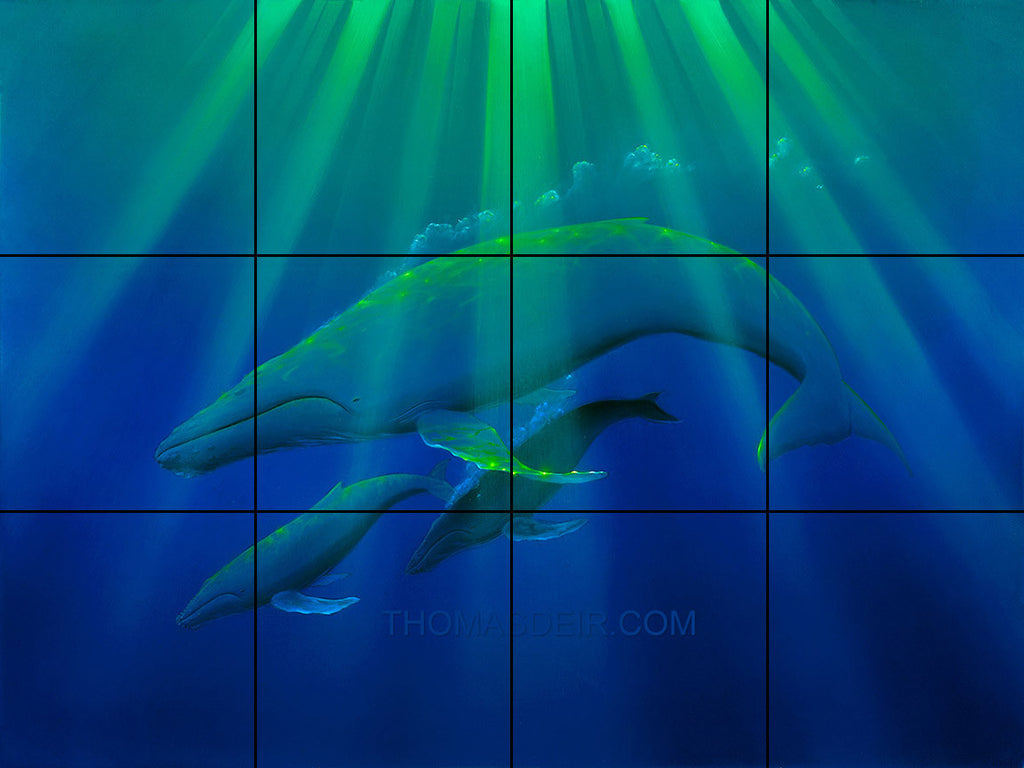 Heavenly Humpbacks Tile Mural