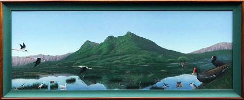 Holiday Sale! Kaelepupu Wetland 16x44 Framed Giclee