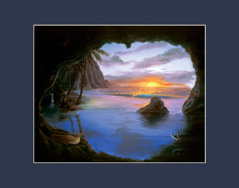 Kauai Cave Hawaii art prints gift print