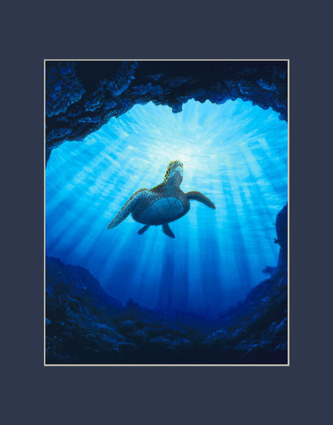 Kauai Turtle Cave Hawaii art prints gift print
