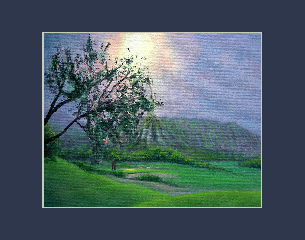 Koolau Golf Course Hawaii art prints gift print