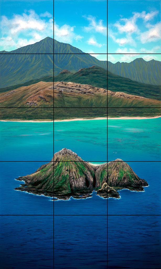 Lanikai Bird's Eye Tile Mural