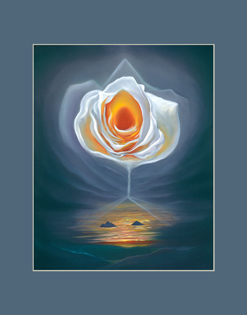 Lanikai Rose Hawaii art prints gift print