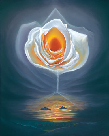 Lanikai Rose Giclee Prints by Hawaii Artist