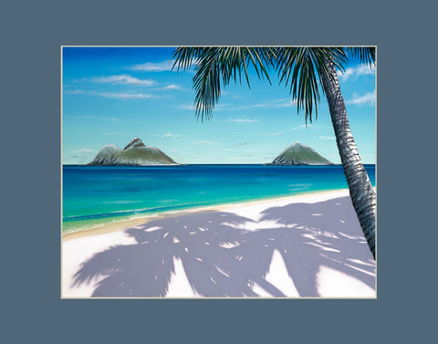 Lanikai Snow Hawaii art prints gift print