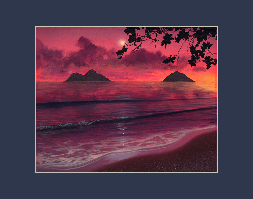 Lanikai Sunrise Hawaii art prints gift print