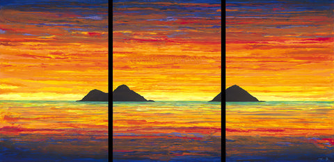 Hawaii Abstract Painting Sunrise