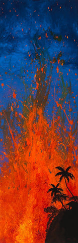 Lava1 GW Painting by Hawaii Artist - Holiday Sale!