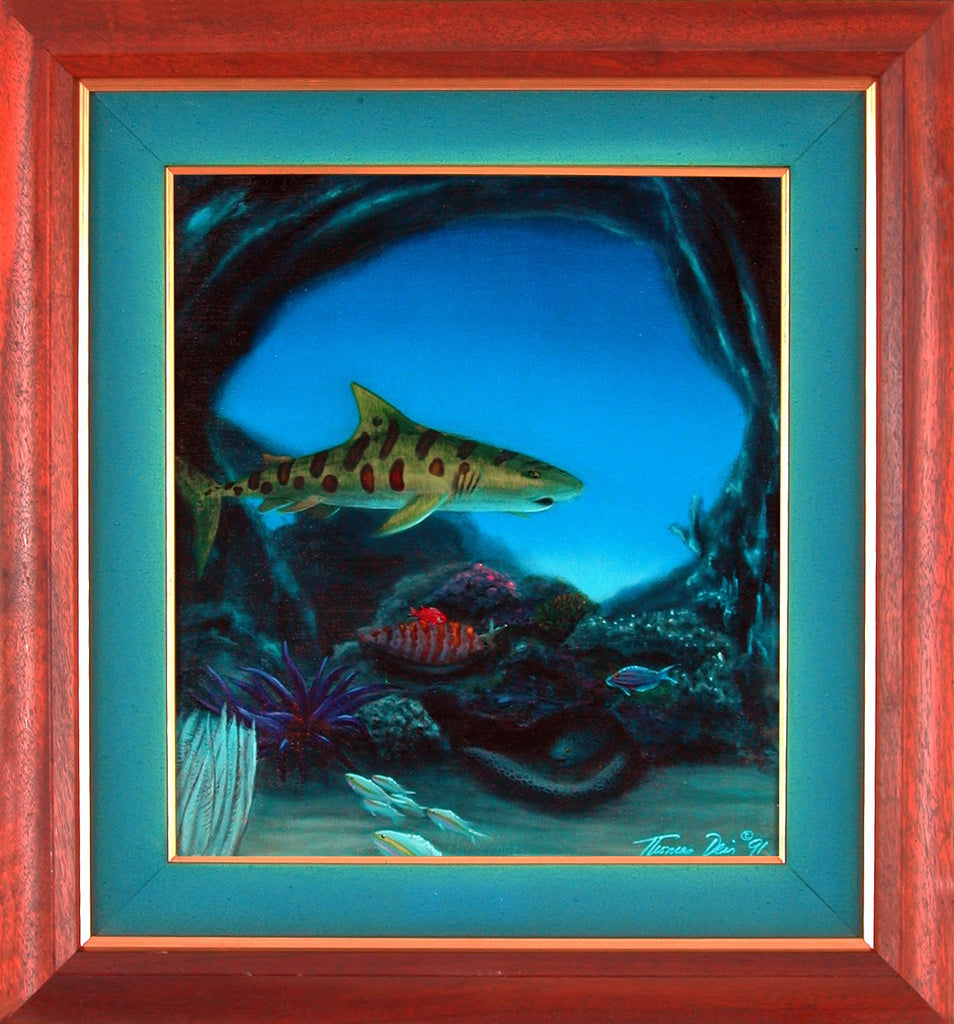 Leopard Shark Framed Painting