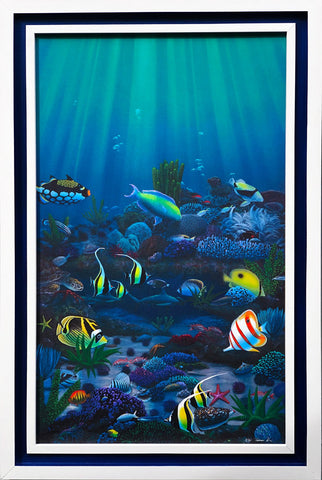 Holiday Sale! Living Reef 22x34 Framed Giclee
