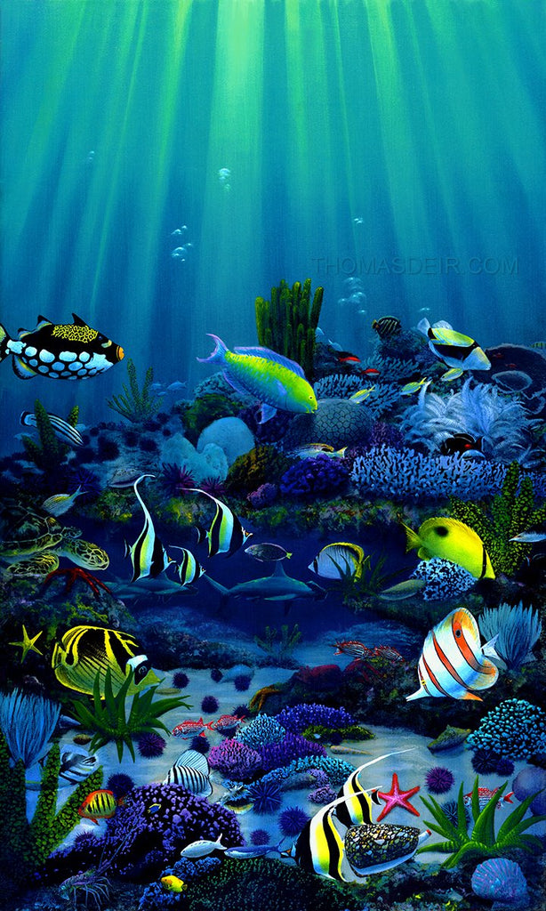 Living Reef Metal 18x30 Limited Edition - Holiday Sale!