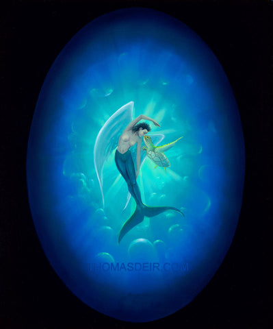 Mermaid Angel Giclee Print by Hawaii Artist