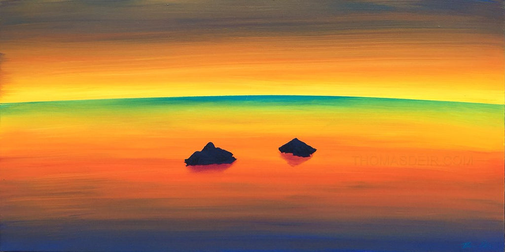 Mokulua Green Flash 18x36 Painting