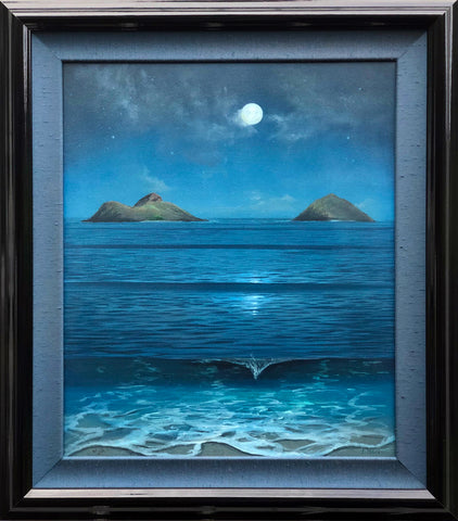 Mokulua Moonbow Study Framed Painting - Sale!