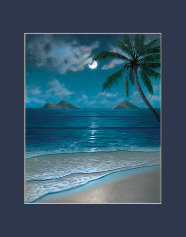 Mokulua Moonbow Hawaii art prints gift print
