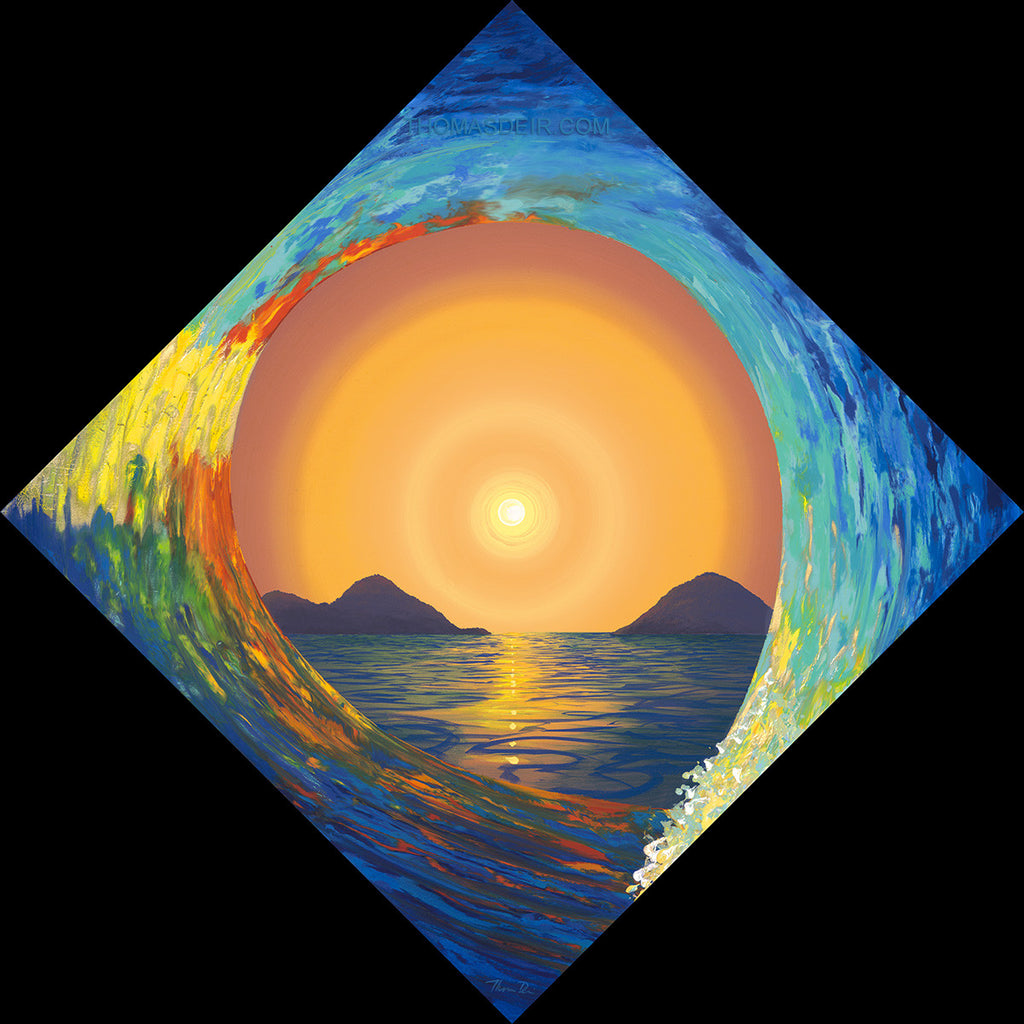 Mokulua Sunrise Wave Painting