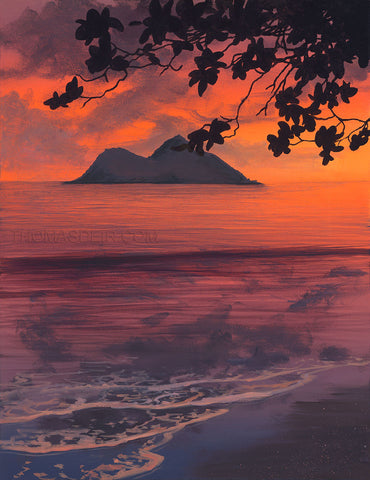 Mokulua Sunrise Giclee Print by Thomas Deir