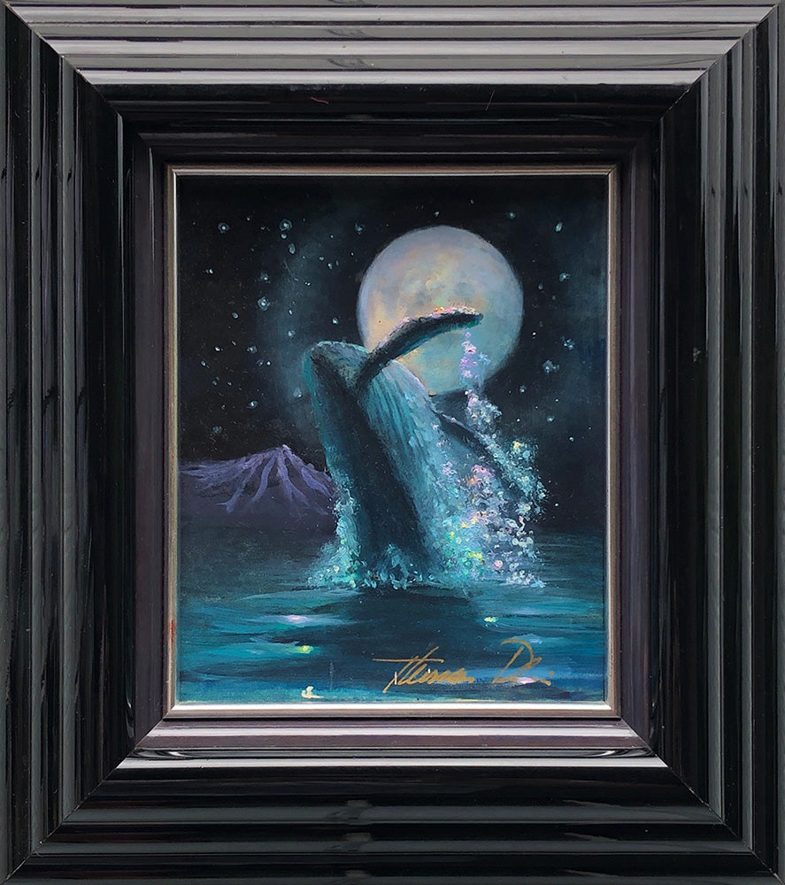 Moonlight Rapture Color Sketch 8x9 Framed Painting