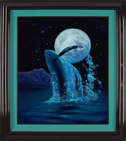 Moonlight Rapture Diamond Head Framed Painting - Holiday Sale!