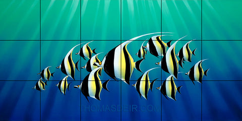 Moorish Idols Tropical Fish Tile Mural