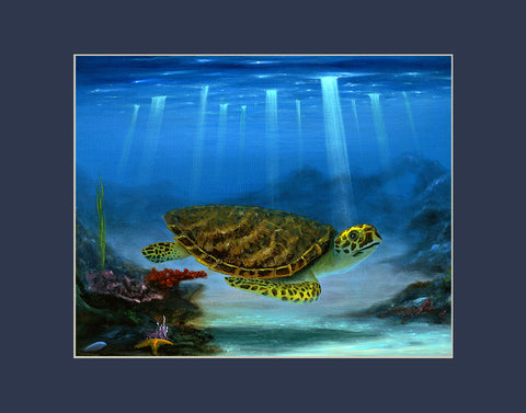 Myrtle the Turtle Hawaii art prints gift print