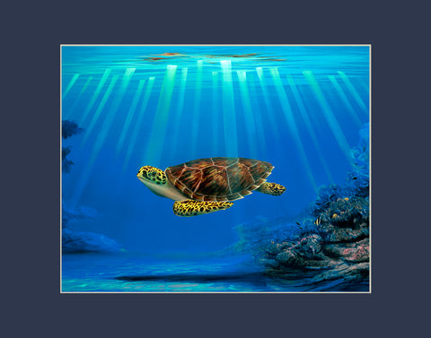 Myrtle the Turtle's Mommy Matted Print