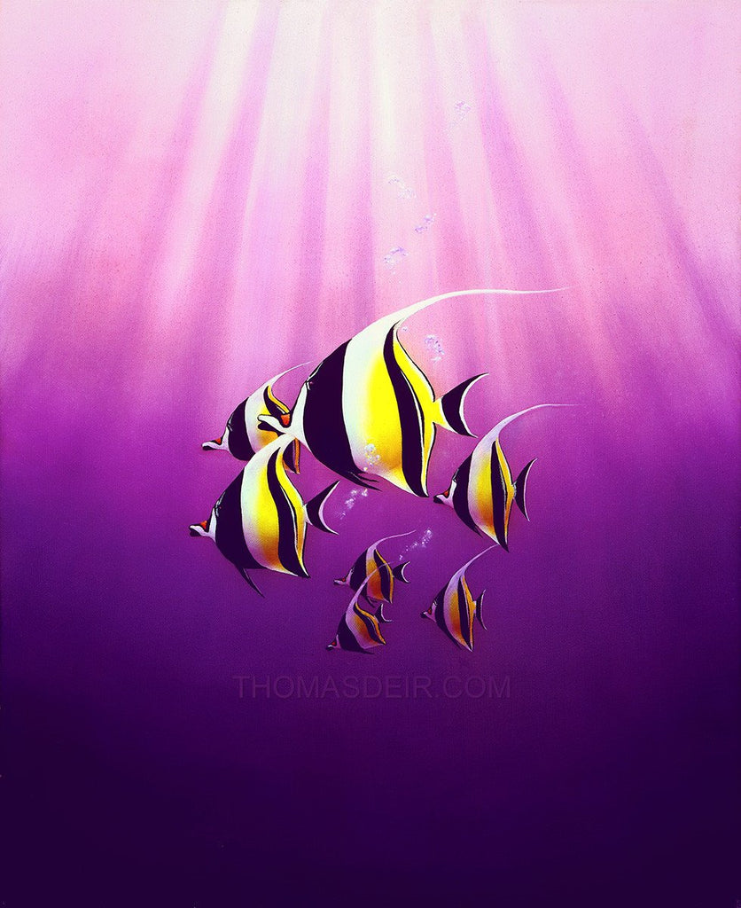Mystic Angels Tropical Fish Giclee