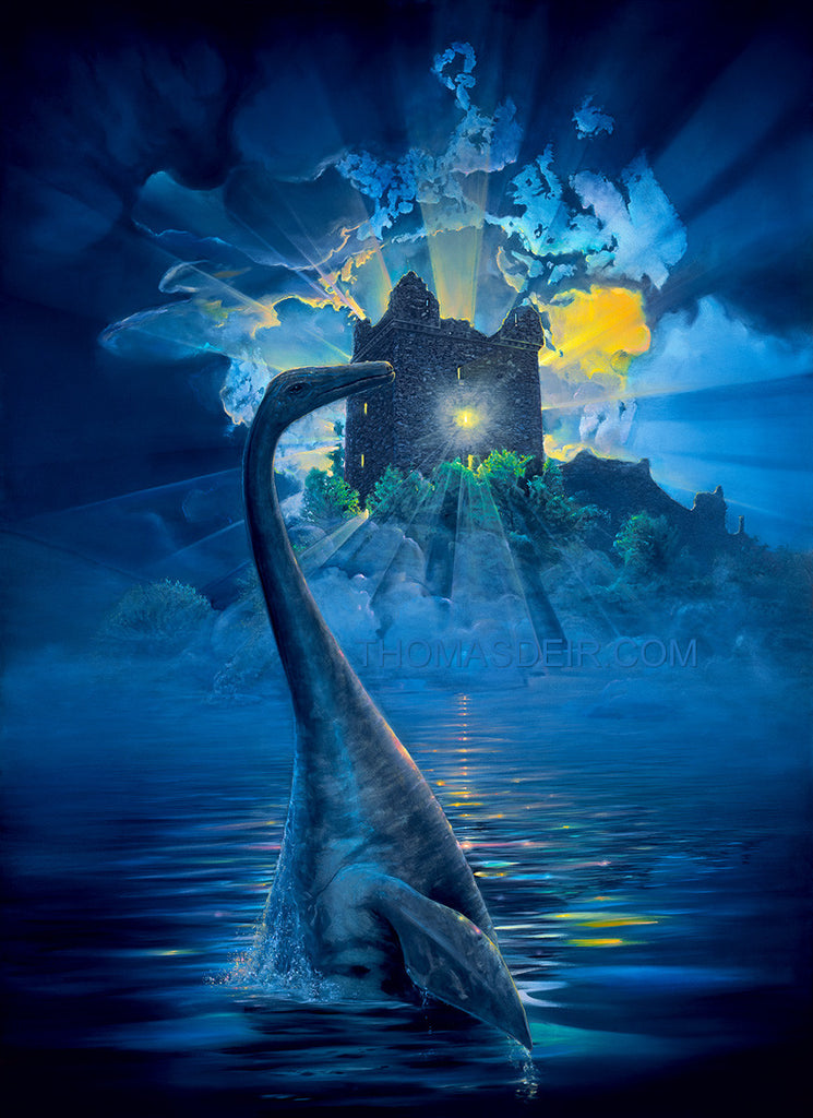 Nessie Lives Giclee Prints by Hawaii Artist