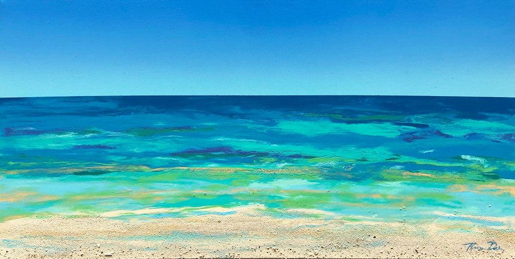 Ocean Horizon 15x30 Painting