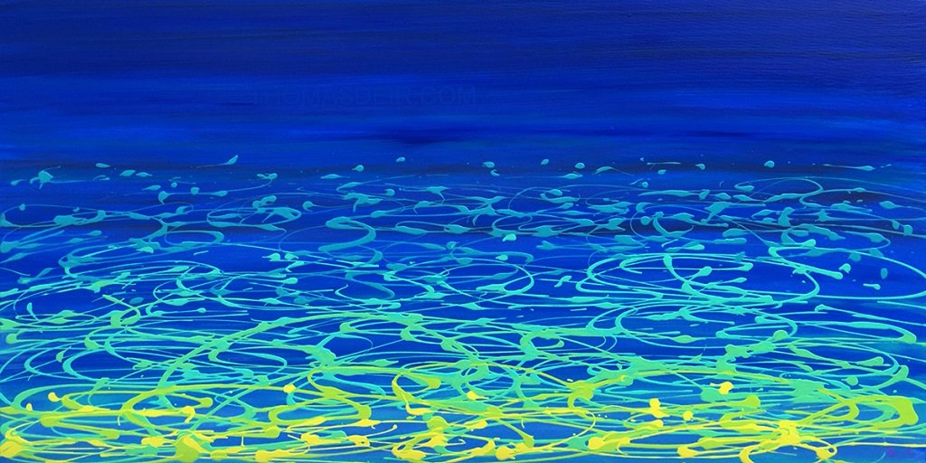 Ocean Reflection 24x48 GW Painting Holiday Sale!