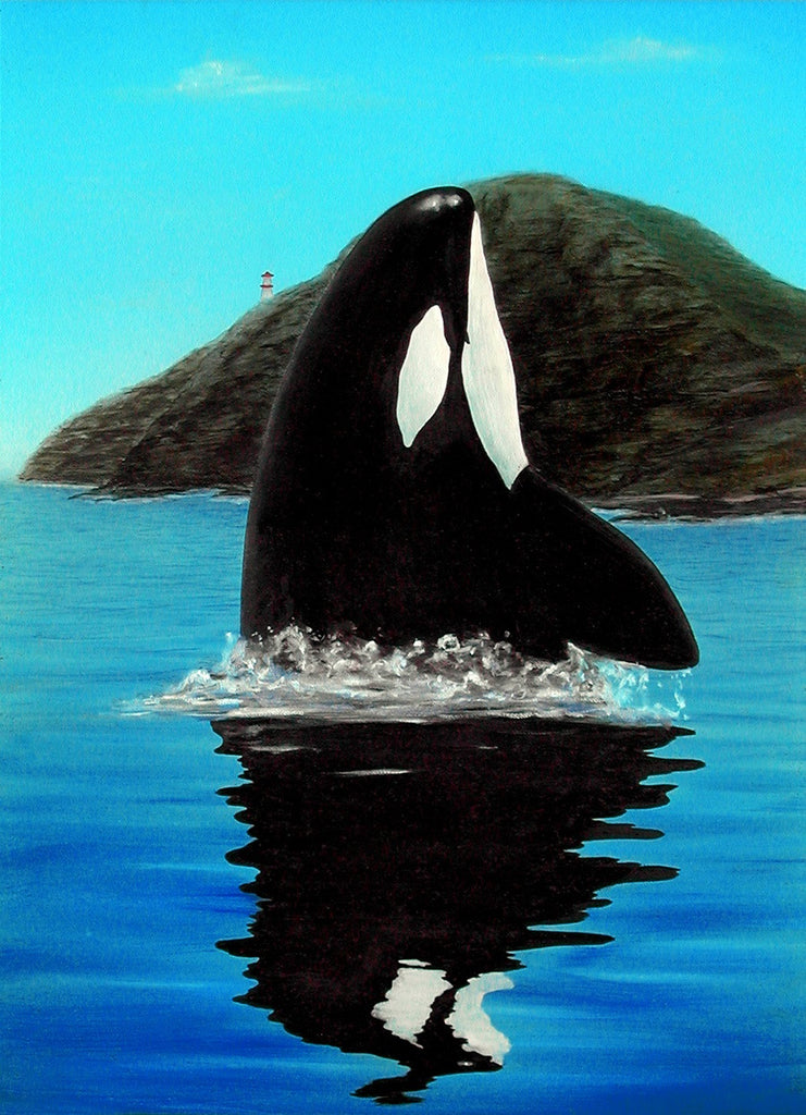 Orca Makapuu Whale Painting by Hawaii Artist