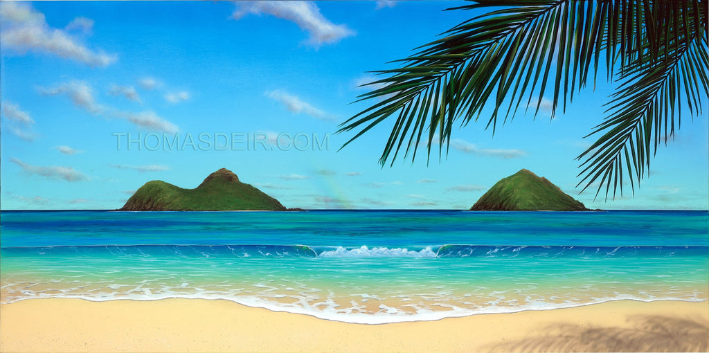Paradise Rainbow Original Painting by Hawaii Artist - Holiday Art Sale!