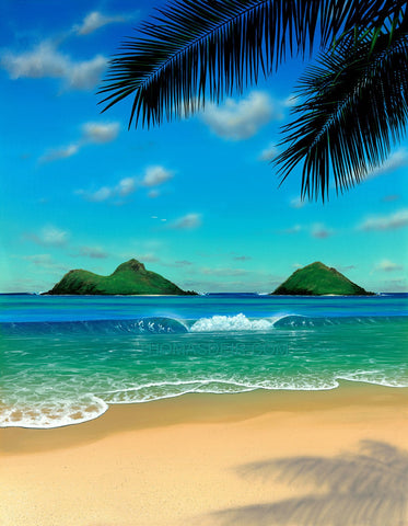 Paradise Hawaii Beach Giclee
